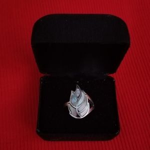Vintage Real 925 Silver Abalone Ring